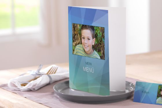Communion cartes de menu;
